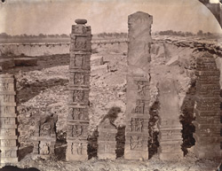 Sculptured pillars from Baijnath. 1003442